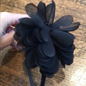 Jcrew black flower headband